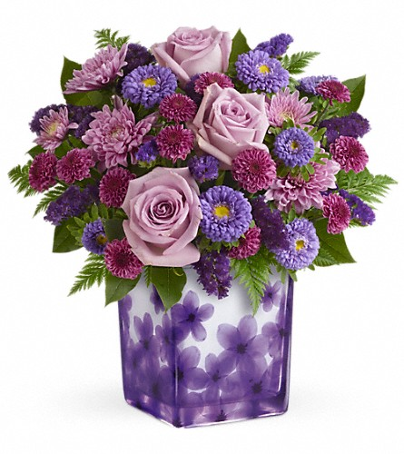 Teleflora's Happy Violets Bouquet in Longview WA, Jansen's Flowers & Gift Gallery