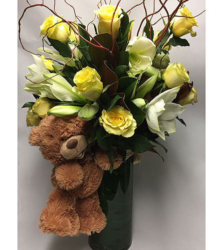 Baby Boy Arrangement in New York NY, Fellan Florists Floral Galleria