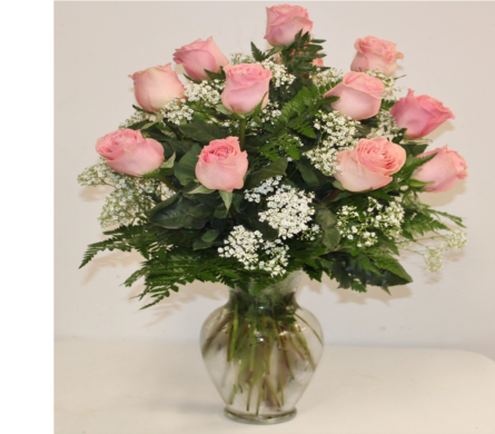 Make Me Blush - Dozen Long Stemmed Pink Roses in Houston TX, Ace Flowers