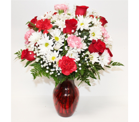 Hugs and Kisses Bouquet with Red Roses in Houston TX, Ace Flowers