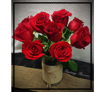Red dozen roses in Vermilion AB, Fantasy Flowers