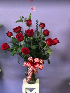 Dozen Roses in Santa  Fe NM, Rodeo Plaza Flowers & Gifts