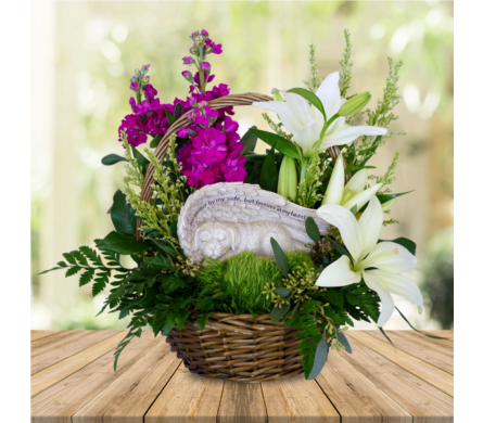 Loyal Friend Sympathy Basket in Dallas TX, In Bloom Flowers, Gifts and More