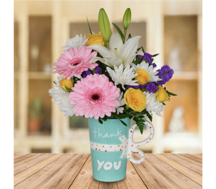 Thank You Mug in Dallas TX, In Bloom Flowers, Gifts and More