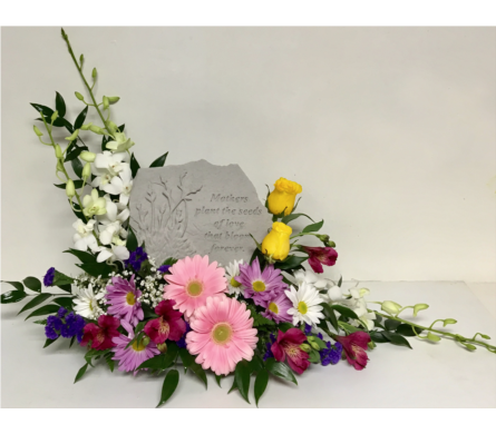 Mothers Plant the Seeds of Love Stone Arrangement in Wyoming MI, Wyoming Stuyvesant Floral