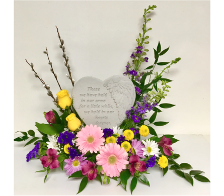 Those We Have Held Heart-Shaped Stone in Fresh in Wyoming MI, Wyoming Stuyvesant Floral
