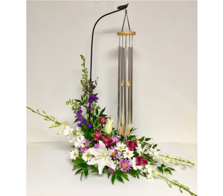 Poetic Wind Chime in Fresh Floral Arrangement in Wyoming MI, Wyoming Stuyvesant Floral