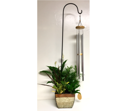 Poetic Wind Chime in Plant Arrangement in Wyoming MI, Wyoming Stuyvesant Floral