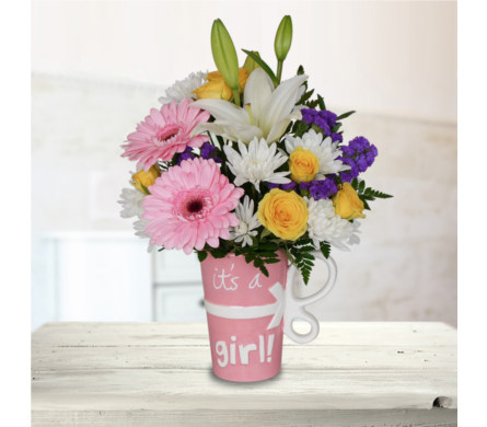 It's a Girl Mug - Deluxe in Dallas TX, In Bloom Flowers, Gifts and More
