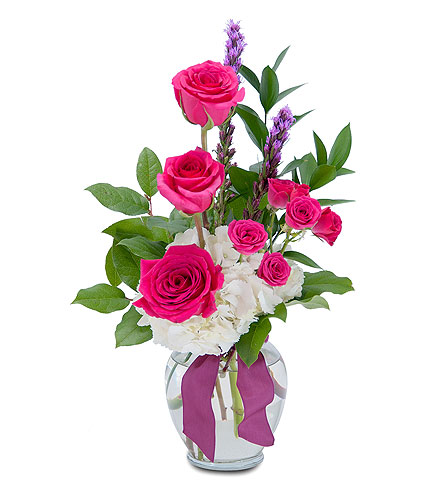 Popping Pink in South Hadley MA, Carey's Flowers, Inc.