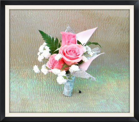 view larger pink rose boutonniere