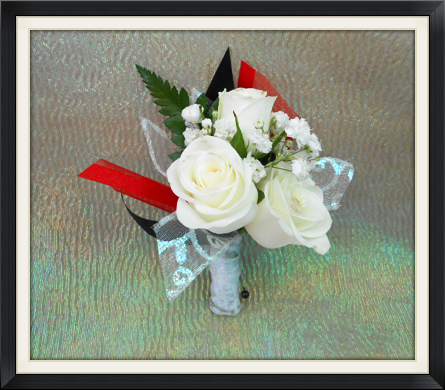wedding prom boutonniere view larger white rose boutonniere - Garden Rose Boutonniere