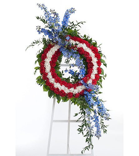 Patriotic Wreath in Dallas TX, In Bloom Flowers, Gifts and More