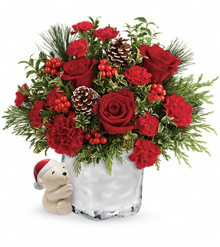 Send a Hug Winter Cuddles by Teleflora in Ypsilanti MI, Enchanted Florist of Ypsilanti MI