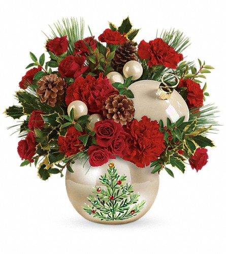 Teleflora's Classic Pearl Ornament Bouquet in Lebanon IN, Mount's Flowers