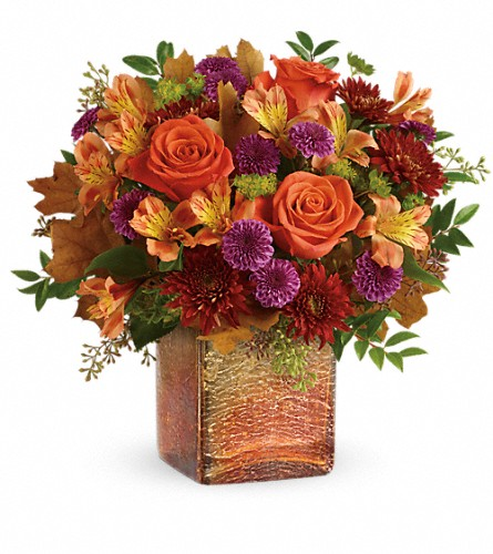 Teleflora's Golden Amber Bouquet in Oak Forest IL, Vacha's Forest Flowers