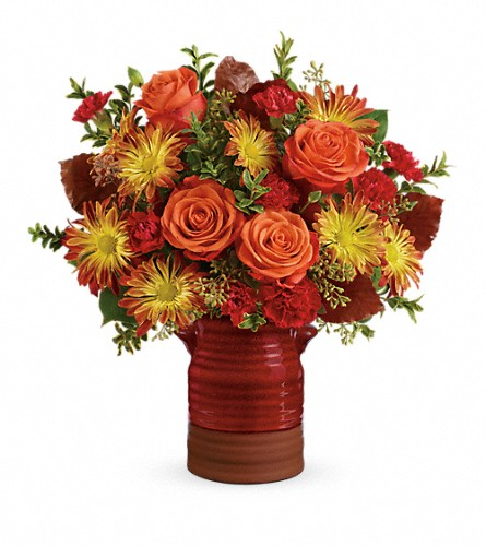 Teleflora's Heirloom Crock Bouquet in St Louis MO, Bloomers Florist & Gifts