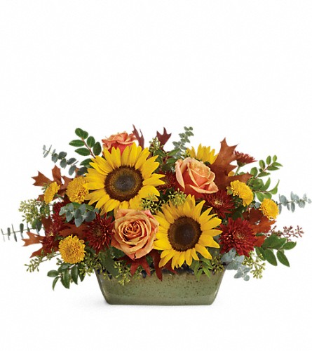 Teleflora's Sunflower Farm Centerpiece in Miami Beach FL, Abbott Florist