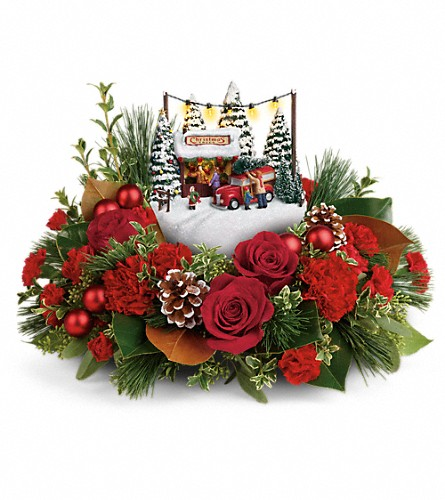 Thomas Kinkade's Festive Moments Bouquet in Lebanon IN, Mount's Flowers