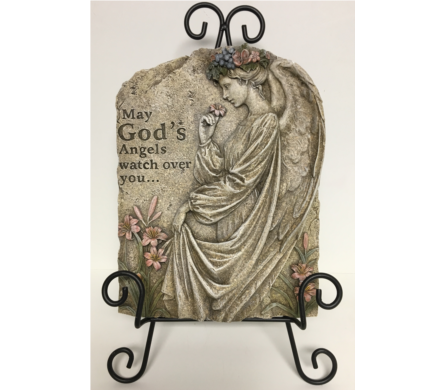 May God's Angels watch over you... Plaque & Stand in Wyoming MI, Wyoming Stuyvesant Floral
