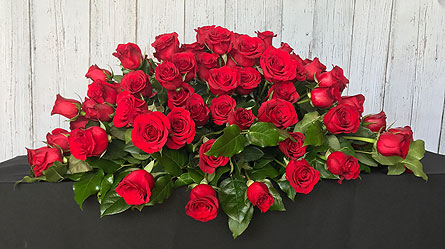 Red Rose Casket Spray in Tempe AZ, Bobbie's Flowers