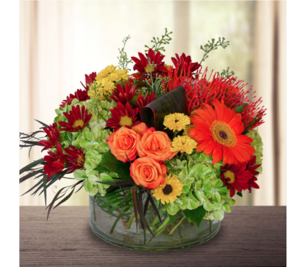 Fabulous Fall Centerpiece in Dallas TX, In Bloom Flowers, Gifts and More