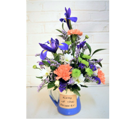 Florist In Ozark Flower Delivery Shades Of Pinks Accent With A Touch Purple And