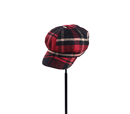 Red Tartan Plaid Newsboy Cap in Indianapolis IN, Steve's Flowers and Gifts