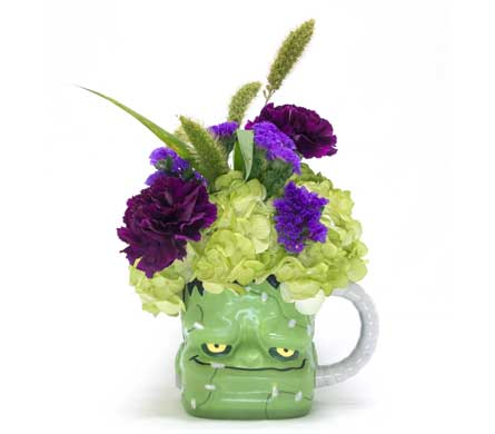 Frankenstein Mug in Amherst NY, The Trillium's Courtyard Florist