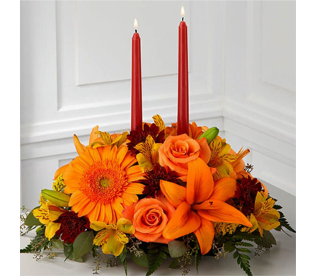 Bright Autumn Centerpiece in Indianapolis IN, George Thomas Florist