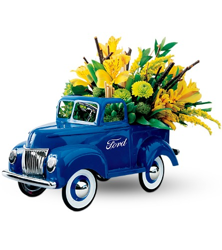 Teleflora's Classic Ford Pickup Bouquet in Tuckahoe NJ, Enchanting Florist & Gift Shop