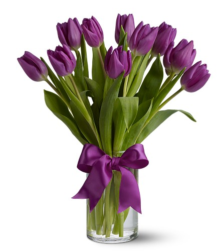 Teleflora's Passionate Purple Tulips in San Francisco CA, Fillmore Florist