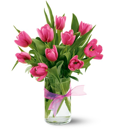 Teleflora's Precious Hot Pink Tulips in San Francisco CA, Fillmore Florist