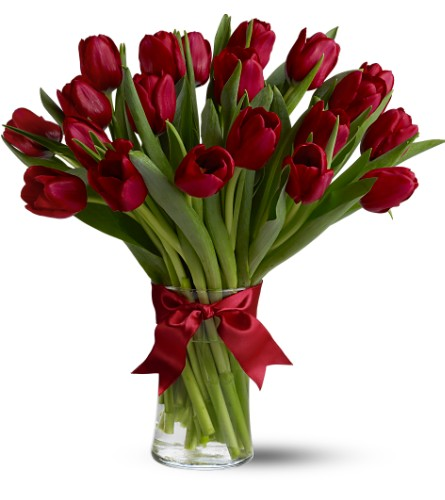 Teleflora's Radiantly Red Tulips - Deluxe in San Francisco CA, Fillmore Florist