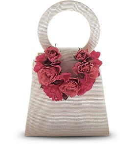 Plush Pinks Purse Corsage in Halifax NS, Atlantic Gardens & Greenery Florist