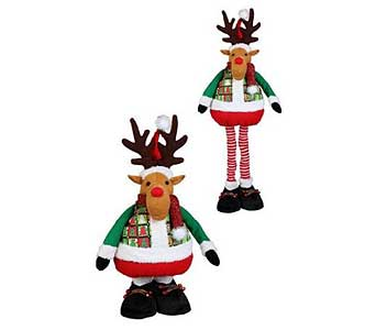 Standing Moose with Flexible Legs in San Antonio TX, Best Wholesale Christmas Co