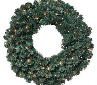30in. Oregon Fir Wreath with Lights in San Antonio TX, Best Wholesale Christmas Co