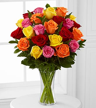 Two Dozen  Assorted Roses  in Camp Hill and Harrisburg PA, Pealer's Flowers