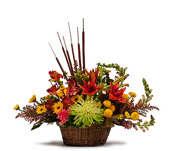 Abundant Basket in Hastings NE, Bob Sass Flowers, Inc.