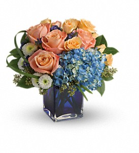 Teleflora's Modern Blush Bouquet in Wolfville NS, Buds & Bygones Shops Ltd