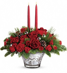 Teleflora's All That Glitters Centerpiece in Orwell OH, CinDee's Flowers and Gifts, LLC