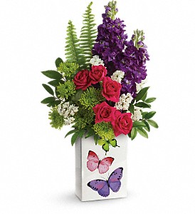 Teleflora's Flight Of Fancy Bouquet in McHenry IL, Locker's Flowers, Greenhouse & Gifts