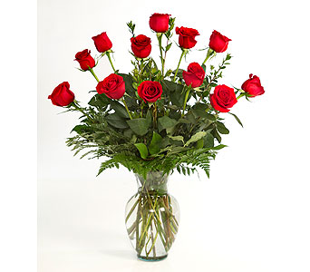 1 Dozen Red Roses Arranged in Little Rock AR, Tipton & Hurst, Inc.
