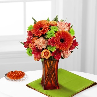 Orange Escape Bouquet in Camp Hill and Harrisburg PA, Pealers Flowers