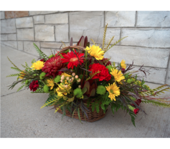 Fall Basket in Muskegon MI, Wasserman's Flower Shop