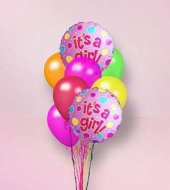 steve\'s it\'s a girl <strong>balloon<\/strong> bouquet in indianapolis in, steve\'s