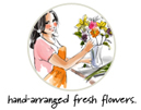 Send hand-arranged and hand-delivered fresher flowers by your local