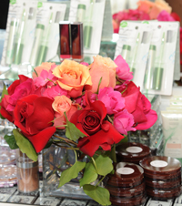 MTV Beauty event floral decorations