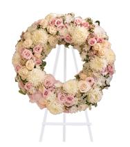Couronne de fleurs Paix éternelle