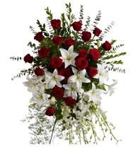 Gerbe Hommage de lys et roses